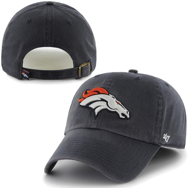 Mens Denver Broncos 47 Brand Navy Blue Cleanup Adjustable Hat NFLShop.com