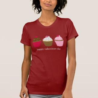 Valentines Day Cupcakes Custom T Shirts