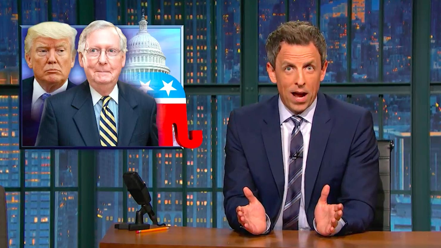 Image result for trump seth meyers healthcare ryan mcconnell