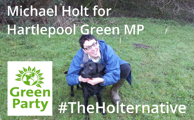 Michael Holt Green Party MP for Hartlepool 2015