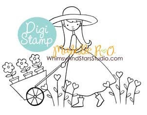 Instant Download Digi Stamp: Garden Joy