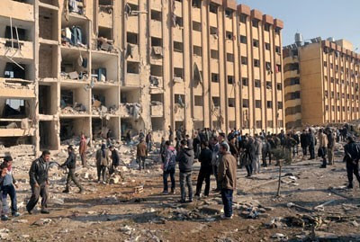 US-backed rebels shelled Aleppo University in Syria killing over 80 people. Failing to win public support the rebels are terrorizing the general population. by Pan-African News Wire File Photos