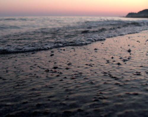 El mar del atardecer