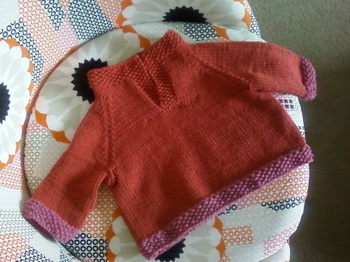LMKG Placket-Neck Sweater