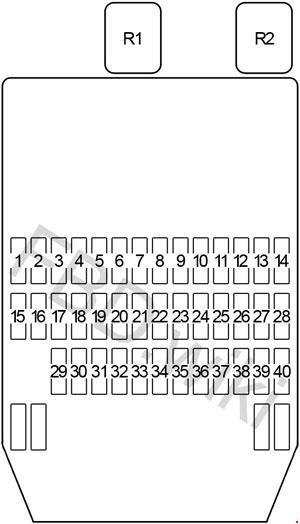 Infiniti Q45 Y33 1997 2001 Fuse Box Diagram