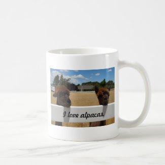 Alpacas in Templeton, California Mugs