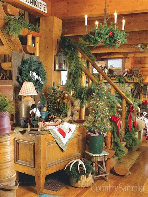 Get a great lodge look by decorating with antlers, plaid