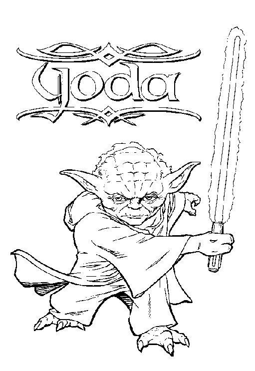 Coloriage A Imprimer Maitre Yoda Gratuit Et Colorier