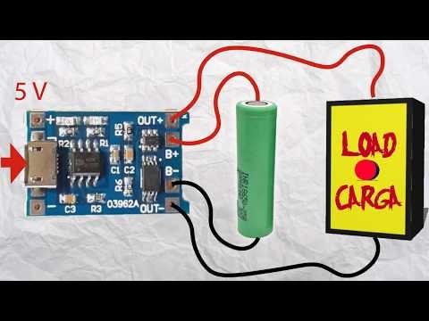Cómo construir un cargador fácil para baterías LiIon y LiPo con protección (Nueva versión TP4056)
