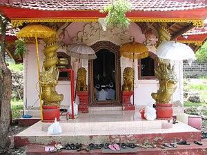 Hindu temple on the island of Menjangan (Bali,...