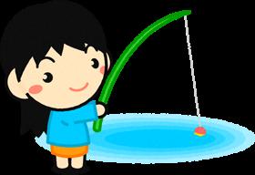 釣りをする幼稚園児イラスト釣りをする幼稚園児幼稚園素材のプチッチ