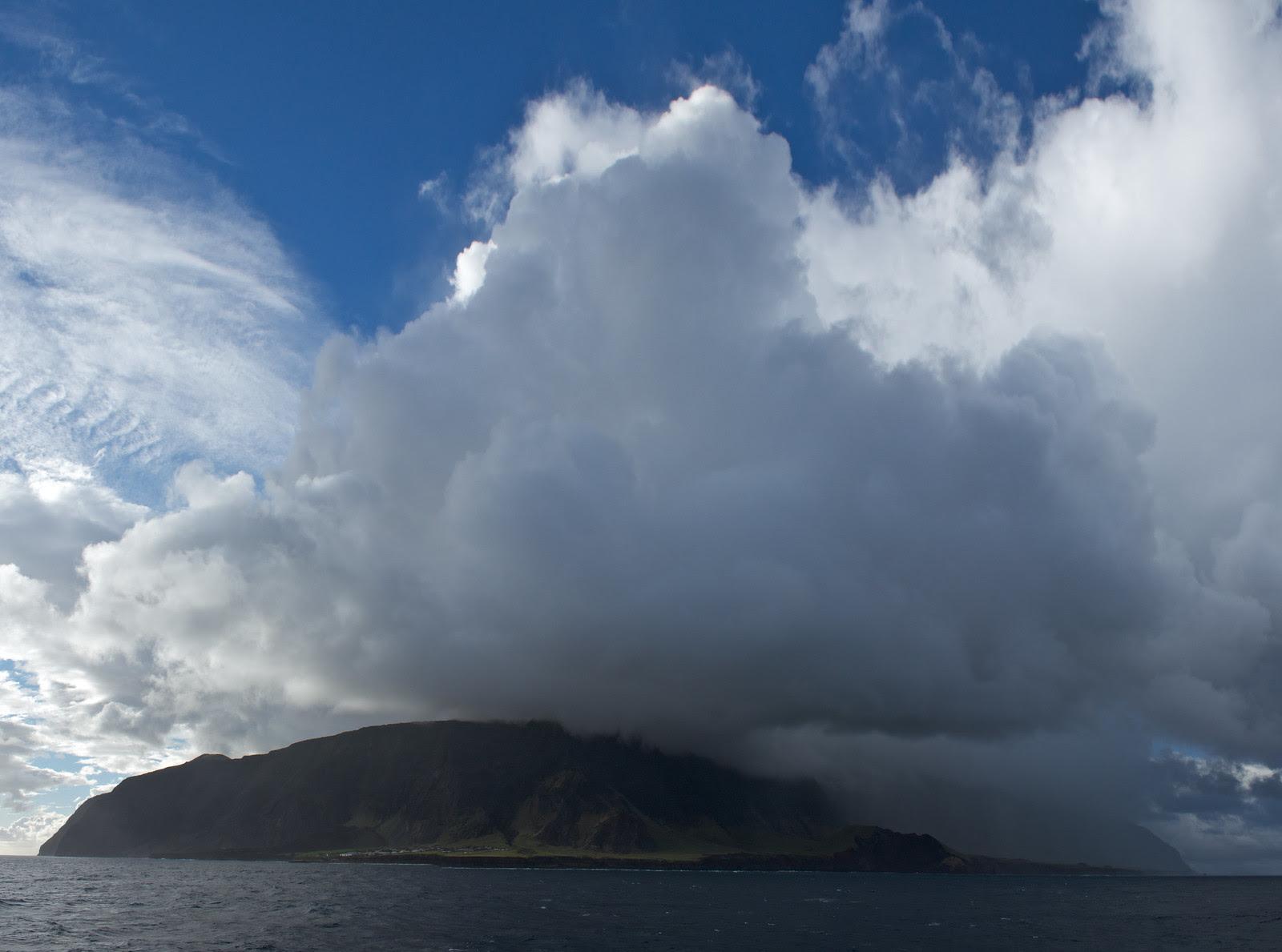Storm clouds gather over Tristan da Cunha