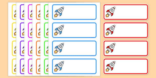 Editable Drawer - Peg - Name Labels (Rockets) - Rocket Label