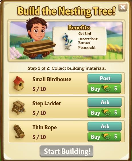 Nesting Tree Building Stage 1