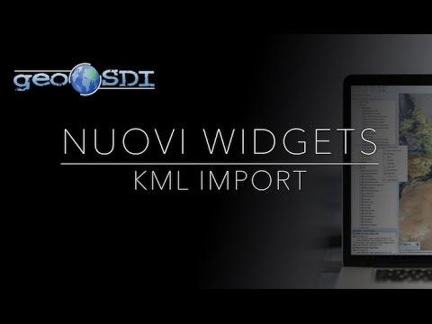 Nuovi widgets: Importa KML