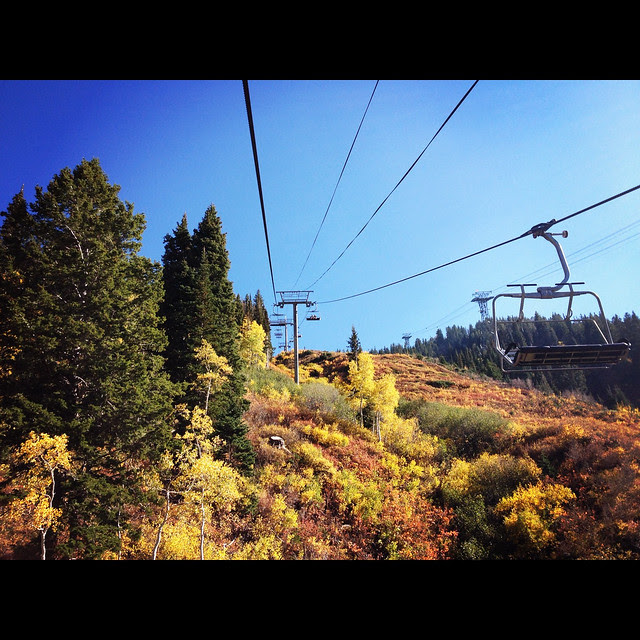 Up another ski lift!