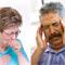 Women coughing. Man with headache.