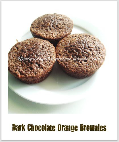 Darkchocolate Orange brownies
