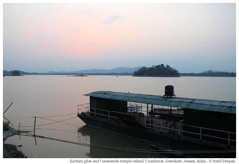 Kachari ferry for Umananda temple island, Guwahati, Assam, India