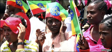 Ruling party supporters in Oromo