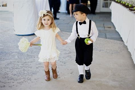 team wedding blog ring bearers flower girls  real