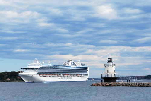 Princess Cruise Ship & A Lighthouse