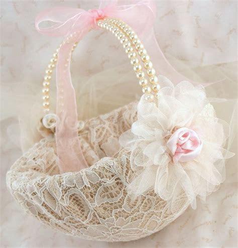Flower Girl Basket, Pink, Tan, Beige, Champagne, Ivory