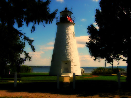 This says Hometown to me - Concord Point Lighthouse - Havre de Grace by litlesam