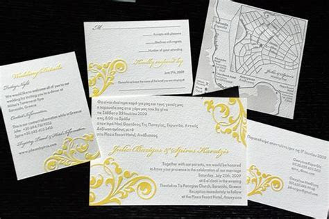 Julie   Spiro's Bilingual Greek Wedding Invitations