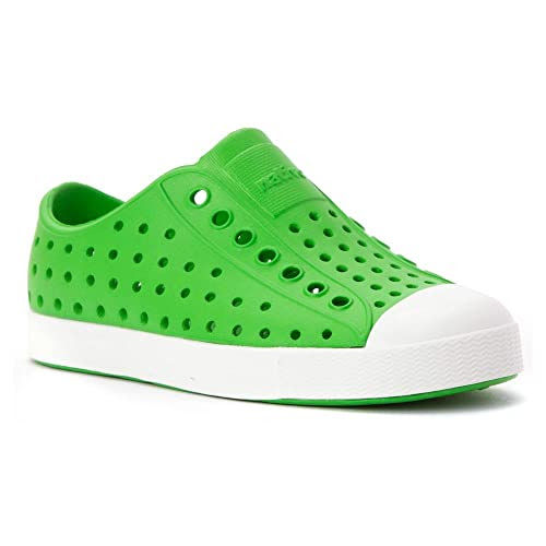 Native Shoes Jefferson Grasshopper Green/Shell White 9 Toddler
