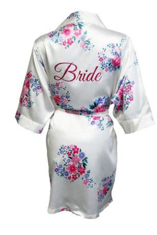 Floral Robe with Glitter Bride   Davids Bridal