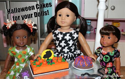 DIY Halloween Cakes and Cake Walk for Dolls!