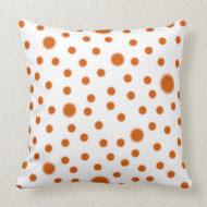 Polka Dot Orange throwpillow