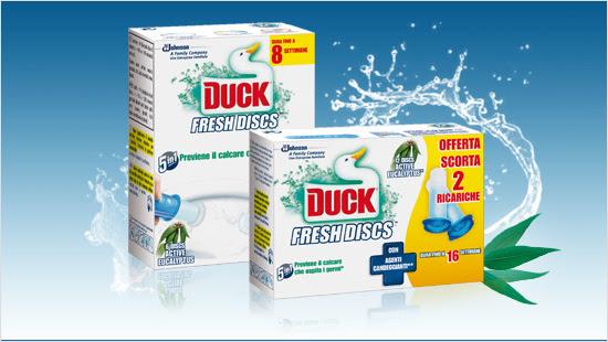 Duck Fresh Discs con Agenti Candeggianti è l'ultima innovazione di Duck…