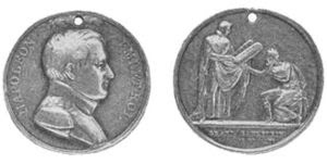 """Medallion struck in honor of the """"Grand S..."""