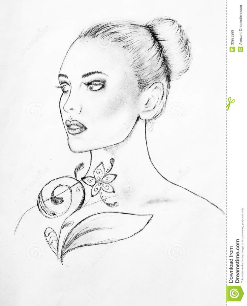 827x1024 Beautiful Faces Sketches Art Colorful Sketching Beautiful Girl