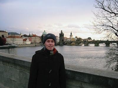jason in Prague by the Vltava River