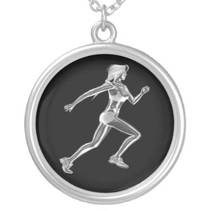 Womens Lady Runner Necklace