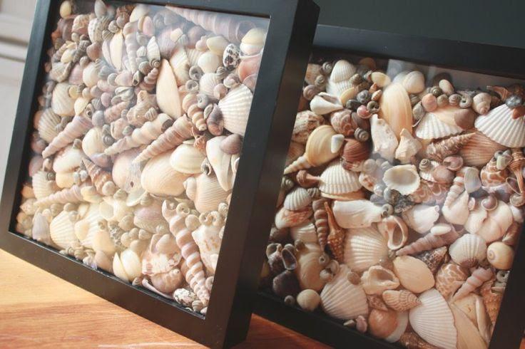 Τι να κάνετε με όλα αυτά τα κοχύλια;  Seashell Σκιά Boxes