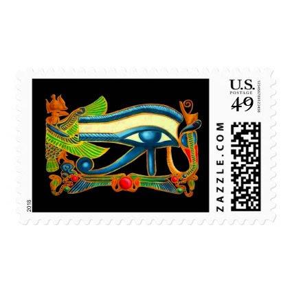 Eye Of Horus on black Postage Stamps
