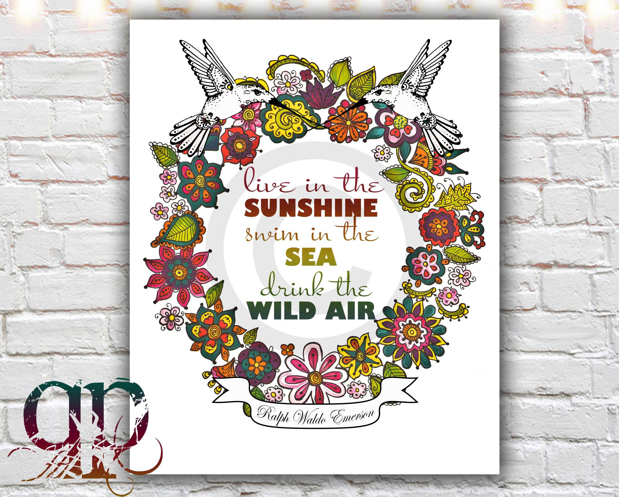 Live In The Sunshine 8 X 10 Paper Print Nature Art Nature Quote