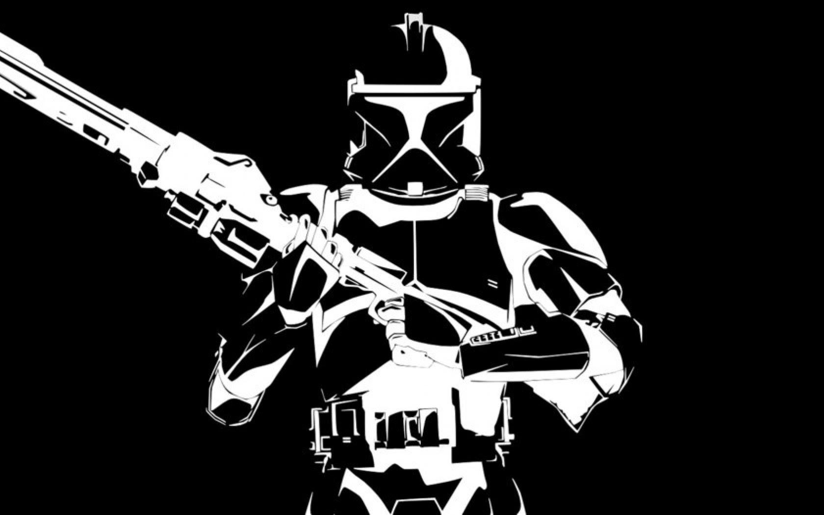 Black And White Star Wars Hd Wallpaper 1680x1050 Hd Wallpaper