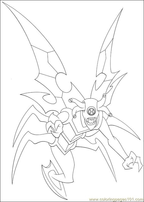 Ben 10 81 Coloring Page Free Ben 10 Coloring Pages