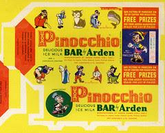 Pinocchio Ice Cream bar box
