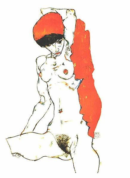 File:Schiele - Akt mit orangeroter Draperie.jpg