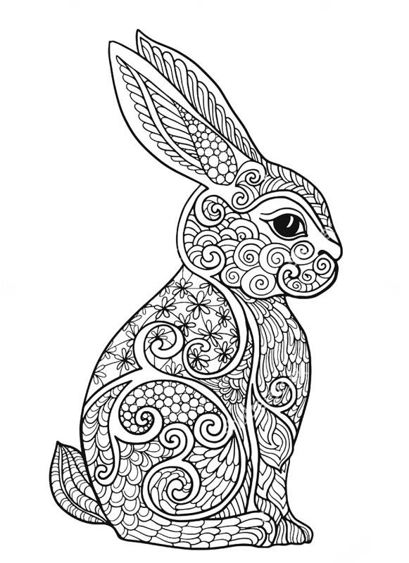 Bunny Coloring Pages For Adults at GetColorings.com | Free ...