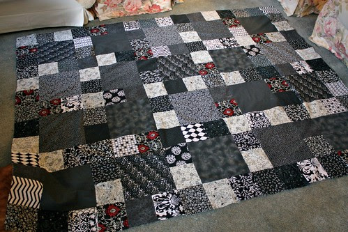 Black & White quilt top
