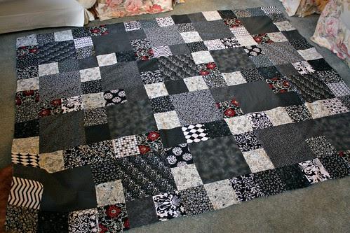 Black & White quilt top