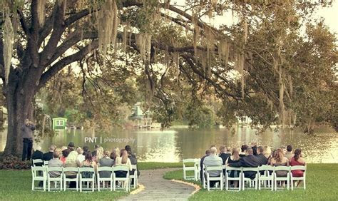 Lakefront event wedding ceremony at the Orlando Science