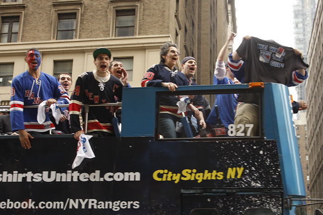 Rangers fans, nyc